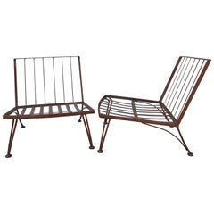 Early Russell Woodard Iron Lounge Chairs