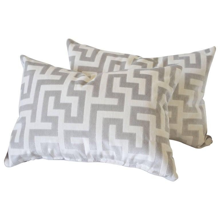 Custom Velvet and Linen Decorative Lumbar Pillows