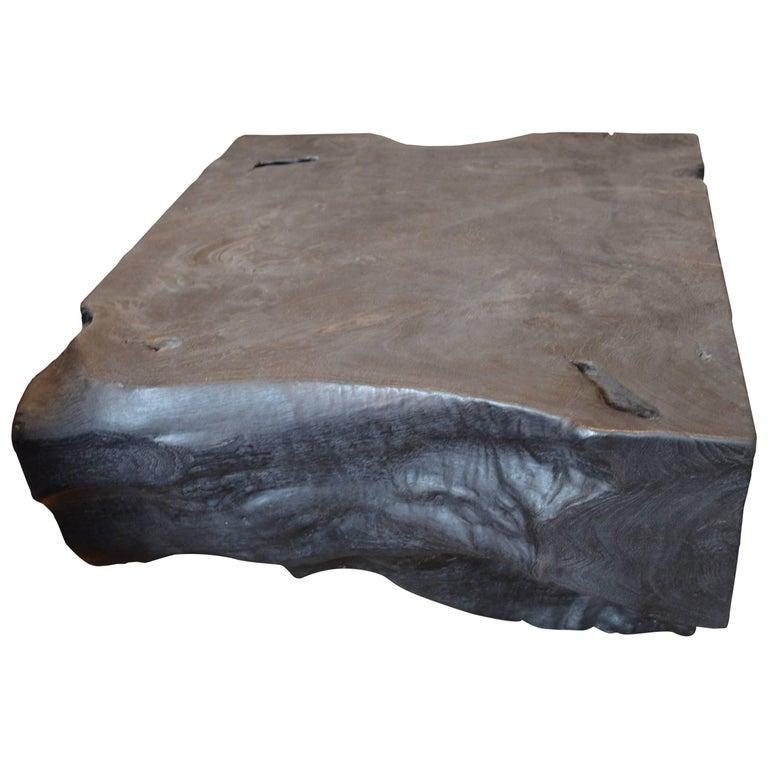 Triple Burnt Teak Wood Coffee or Side Table