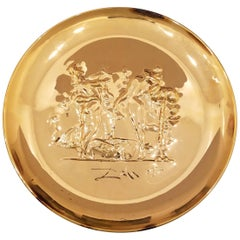 1972 Decorative Sterling Silver Plate by Salvador Dali for Lincoln Mint