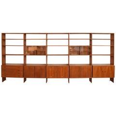 HG Furniture Large Teak Modular Wall Unit