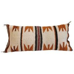 Navajo Indian Weaving Bolster Pillow