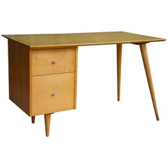 Paul McCobb for Winchendon Planner Group Desk in Maple with Chrome Pulls