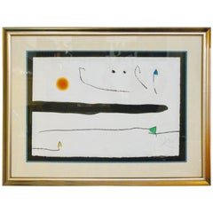 Joan Miro 'Untitled' 'Limited Edition' Aquatint Etching, Signed and Numbered