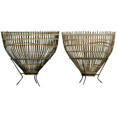 Stunning Pair of 1950s 'Fishtrap Tables' by Franco Albini, Italy