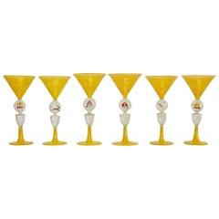 Bimini Werkstatte Martini Glasses, Vienna, 1930s