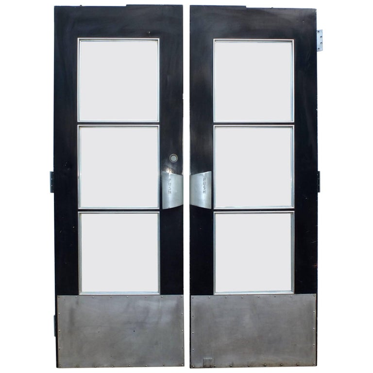 Pair of Doors from S.S. United States Ocean Liner, 1952