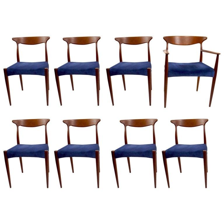 Set of Eight Arne Hovmand Olsen Dining Chairs