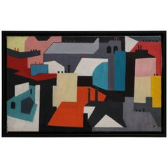 City-Scape Landscape Oil on Canvas by David Segel