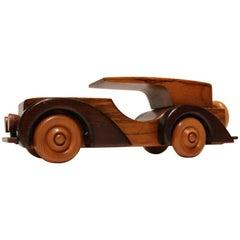 Two-Tone Art Deco Car Model