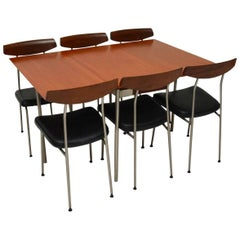 Retro Stag Teak Dining Table and Six Chairs by John & Sylvia Reid