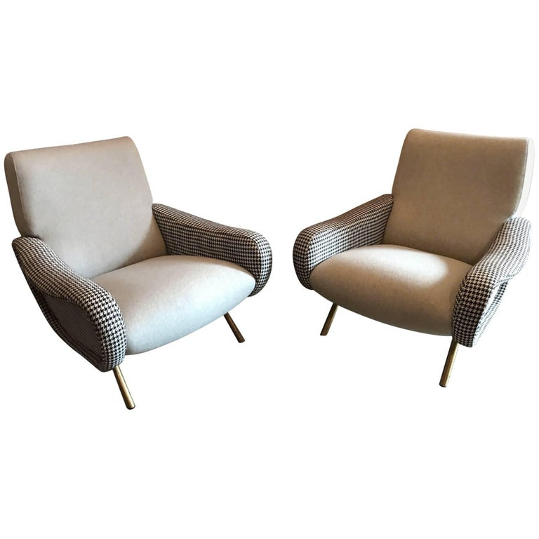 "Pair of ""Lady"" Armchairs by Marco Zanuso for Arflex"