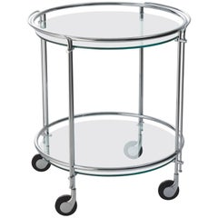 Gallotti and Radice Riki Bar Cart or Trolley in Chrome or Brass