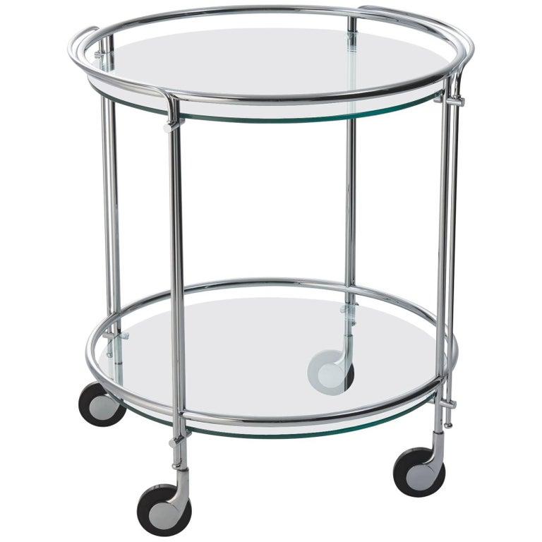 Gallotti and Radice Riki Bar Cart or Trolley in Chrome or Brass