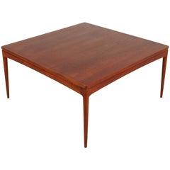Beautiful Danish Teak Square Coffee Table