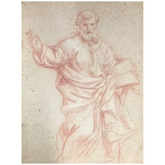 Roman School Red Chalk Study, circa 1700