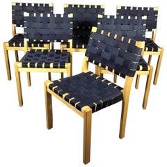 Six Alvar Aalto Model 611 Dining Chairs by Artek, Finland
