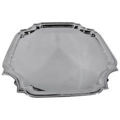 Tiffany Sterling Silver Salver Tray in Traditional Georgian Style