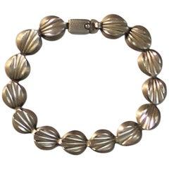 Hermann Siersbol Danish Sterling Silver Modernist Bracelet