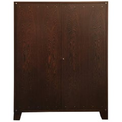 JMF Style Two-Door Wengewood Cabinet