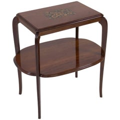 Elegant French Art Deco Side Table by Louis Majorelle, 1920s