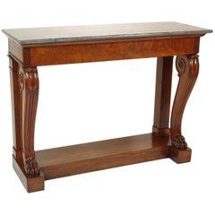 Fine Charles X Mahogany Console Table