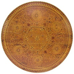 Antique 19th Century Italian Inlay Marquetry Grand Center Hall Table