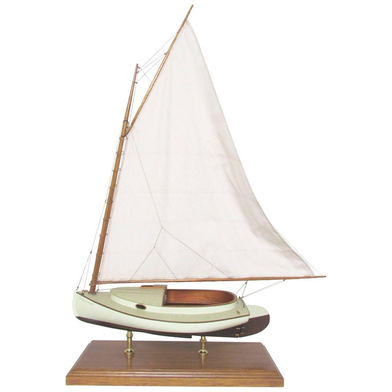 Vintage Scale Boat Model of a Crosby Catboat