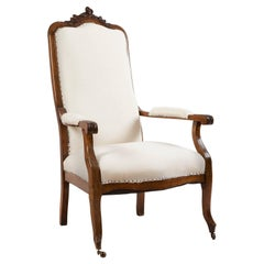 19th Century French Louis Philippe Fauteuil or Armchair in Walnut