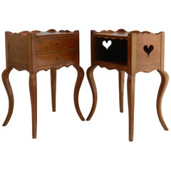 Pair of Nightstands or Bedside Tables, Early 20th Century, Louis XV Revival