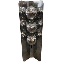 Chrome Lamp with Three Large Bulbs