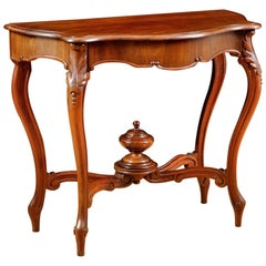 French Louis Philippe Console in Mahogany with Zinc-Lined Cellarette, circa 1830