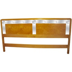 Stunning Bird's-Eye Maple and Mirrored King Headboard by Romweber