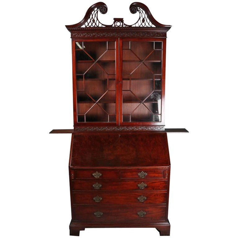 Antique Federal Inlaid Carved And Filigree Mahogany