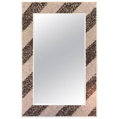 Rectangular Shell Mosaic Frame Mirror Art