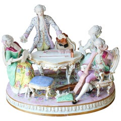 "18th Century Group in Saxe Porcelain ""Тhe Singing Lesson"" by Meissen"