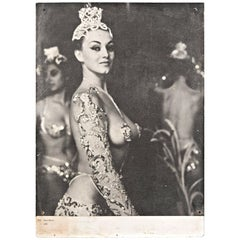 Peter Basch Parisian Latin Quarter Burlesque Black and White Photo Print, 1950s