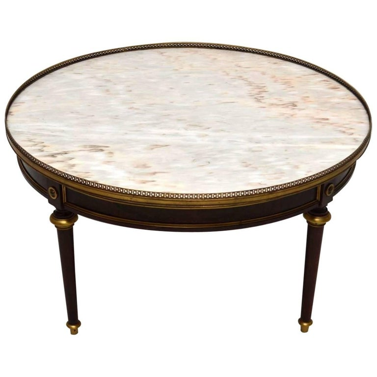 Marble Coffee Table Antique: Large Antique French Marble-Top Coffee Table At 1stdibs