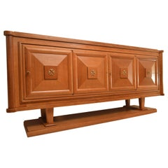 Credenza in Oak in the Style of Charles Dudouyt and Jean-Charles Moreux