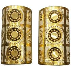 Georges Pelletier Beautiful Pair of Ceramic Sconces, circa 1970