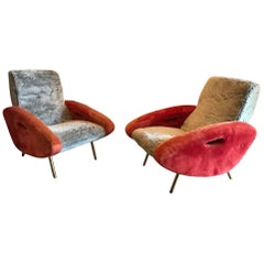 Pair of Armchairs by François Letourneur for Maurice Mourra