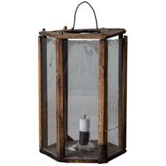 Lantern Wooden Swedish, 19th Century, Sweden