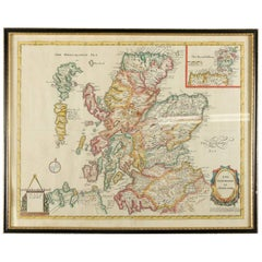 "Map of ""The Kingdom of Scotland"" Printed & Colored by J. Garrett, 19th Century"