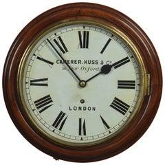 Mahogany Wall Clock by Camerer Kuss & Co