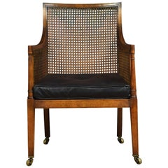 Regency Style Mahogany Bergere Armchair