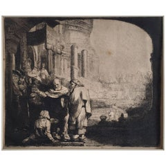 Rembrandt van Rijn, Peter and John Healing the Cripple at the Gate of the Temple