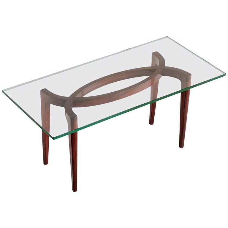 1940s Carlo Enrico Rava Coffee Table in Rosewood