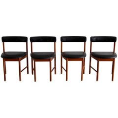 McIntosh Teak Dining Chairs, No 4103, 1960s, Set of Four