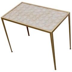 Brass and Mother-of-Pearl Side Table by Vereinigte Werkstätten München