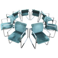 Set of Eight Peter Protzman for Herman Miller Armchairs/Dining Chairs